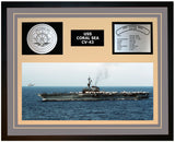 USS CORAL SEA CV-43 Framed Navy Ship Display Grey