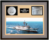 USS CROMMELIN FFG-37 Framed Navy Ship Display Grey