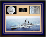 USS DALE CG-19 Framed Navy Ship Display Blue