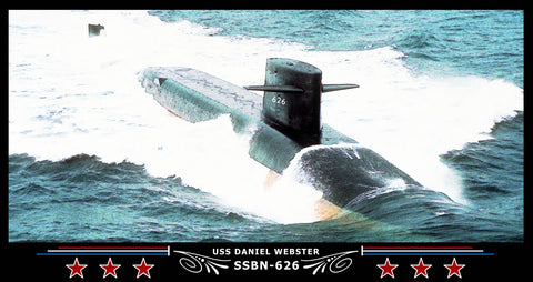 USS Daniel Webster SSBN-626 Art Print