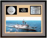 USS DE WERT FFG-45 Framed Navy Ship Display Grey