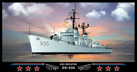 USS Decatur DD-936 Art Print