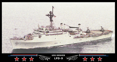 USS Denver LPD-9 Art Print
