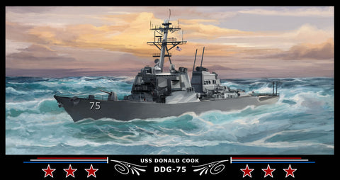 USS Donald Cook DDG-75 Art Print