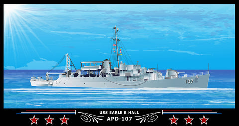 USS Earle B Hall APD-107 Art Print