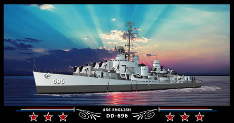 USS English DD-696 Art Print