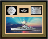 USS ENGLISH DD-696 Framed Navy Ship Display Green