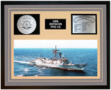 USS ESTOCIN FFG-15 Framed Navy Ship Display Grey