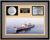 USS FAIRFAX COUNTY LST-1193 Framed Navy Ship Display Grey
