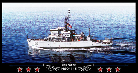 USS Force MSO-445 Art Print