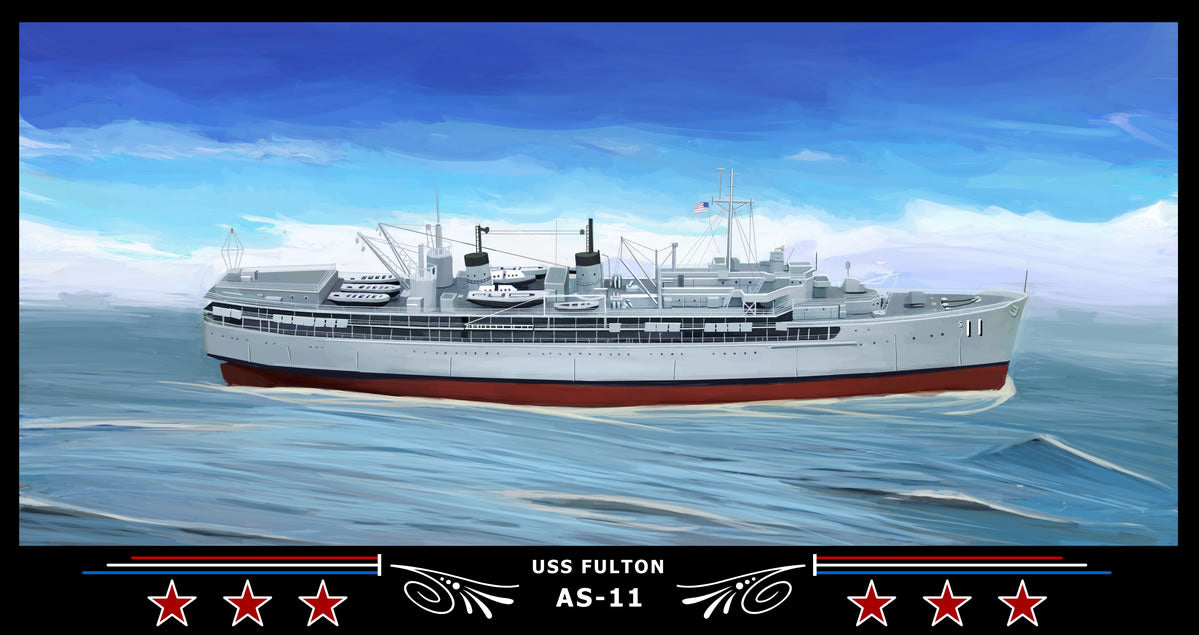 USS Fulton AS-11 Art Print