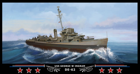 USS George W Ingram DE-62 Art Print