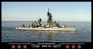 USS Goldsborough DDG-20 Art Print