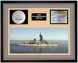 USS GOLDSBOROUGH DDG-20 Framed Navy Ship Display Grey