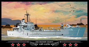USS Graham County LST-1176 Art Print