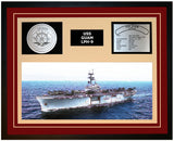 USS GUAM LPH-9 Framed Navy Ship Display Burgundy