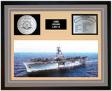 USS GUAM LPH-9 Framed Navy Ship Display Grey