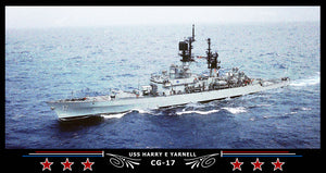 USS Harry E Yarnell CG-17 Art Print