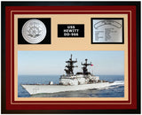 USS HEWITT DD-966 Framed Navy Ship Display Burgundy