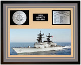 USS HEWITT DD-966 Framed Navy Ship Display Grey