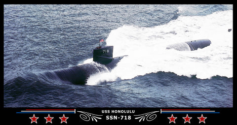 USS Honolulu SSN-718 Art Print