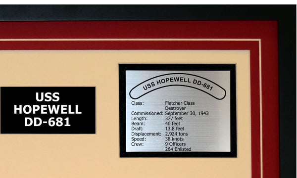 USS HOPEWELL DD-681 Detailed Image B