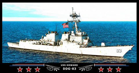 USS Howard DDG-83 Art Print