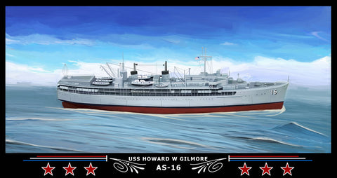 USS Howard W Gilmore AS-16 Art Print