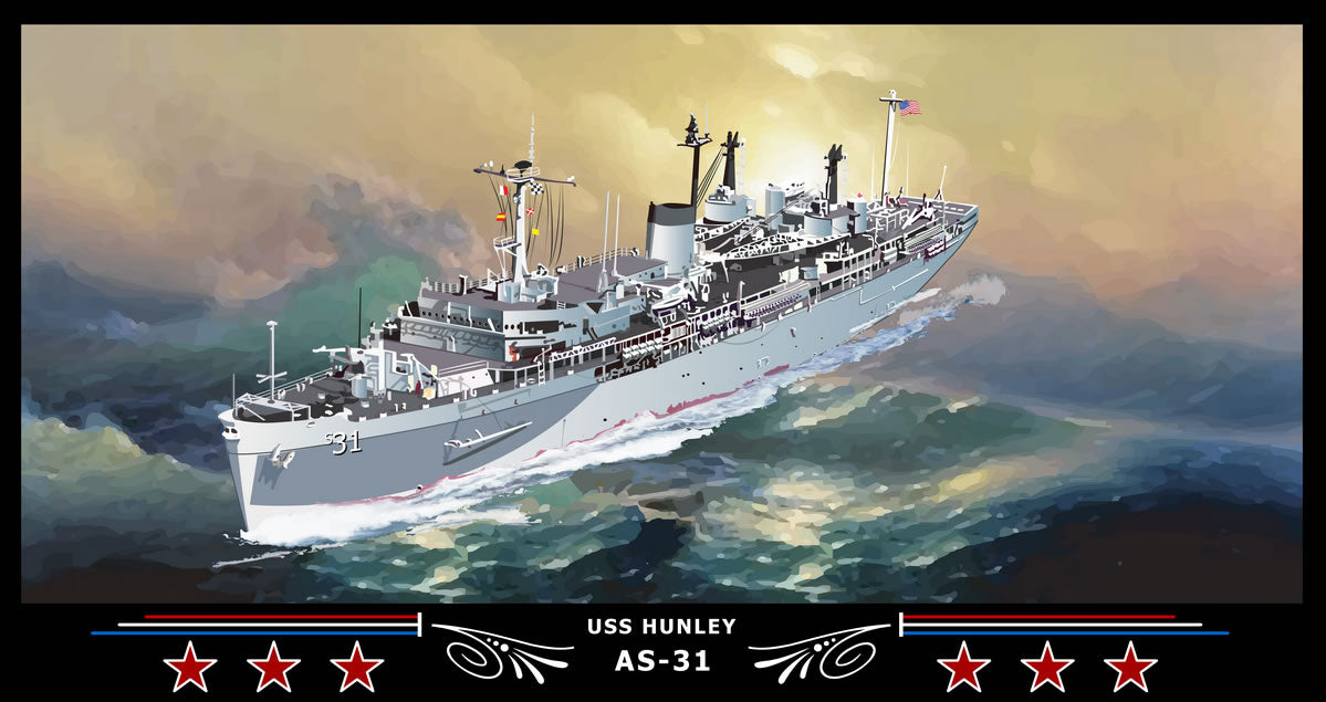USS Hunley AS-31 Art Print