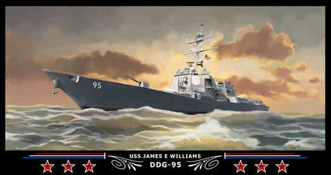 USS James E Williams DDG-95 Art Print