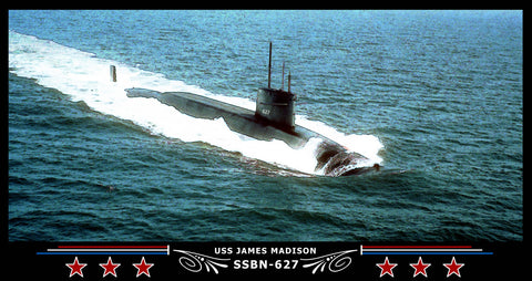 USS James Madison SSBN-627 Art Print