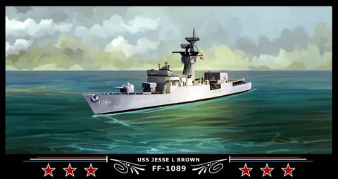 USS Jesse L Brown FF-1089 Art Print