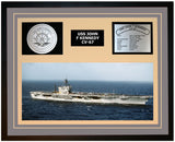 USS JOHN F KENNEDY CV-67 Framed Navy Ship Display Grey