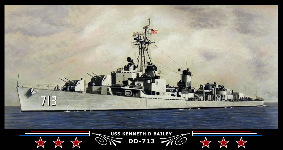 USS Kenneth D Bailey DD-713 Art Print