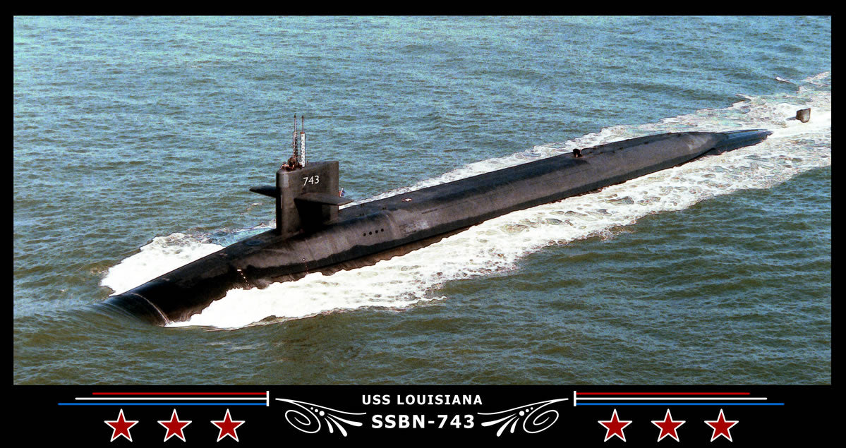 USS Louisiana SSBN-743 Art Print