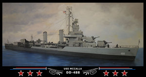 USS Mccalla DD-488 Art Print