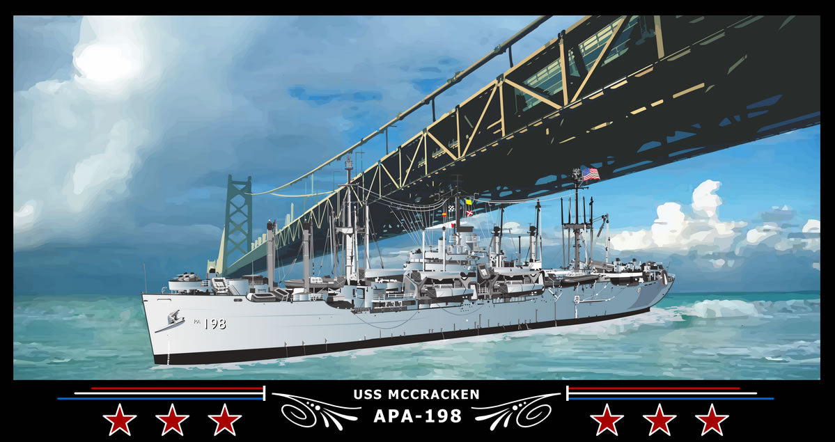 USS Mccracken APA-198 Art Print