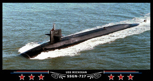 USS Michigan SSGN-727 Art Print