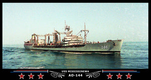 USS Mississinewa AO-144 Art Print