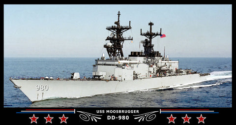 USS Moosbrugger DD-980 Art Print