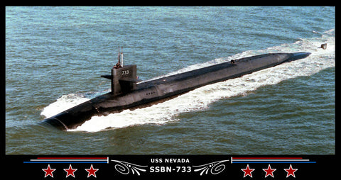 USS Nevada SSBN-733 Art Print