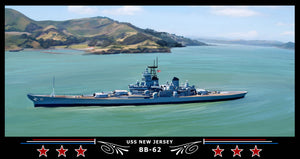 USS New Jersey BB-62 Art Print