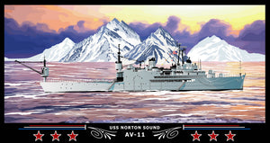 USS Norton Sound AV-11 Art Print
