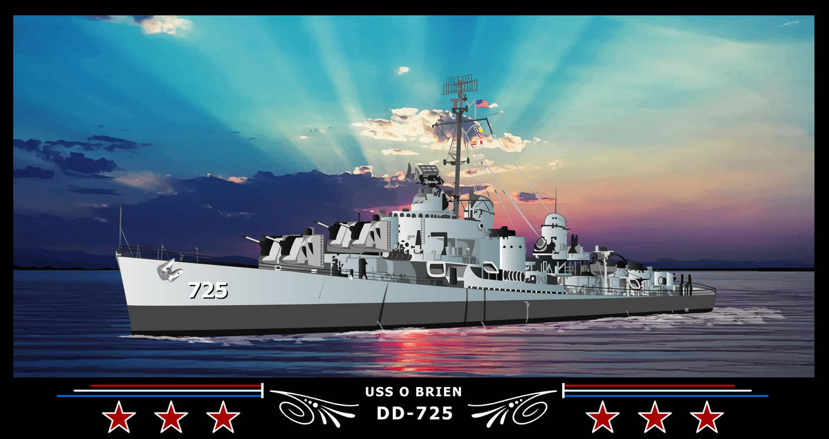 USS O Brien DD-725 Art Print