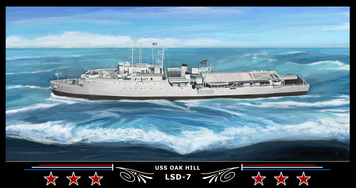 USS Oak Hill LSD-7 Art Print