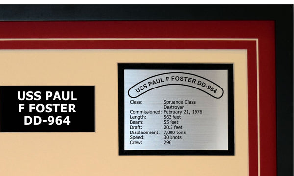 USS PAUL F FOSTER DD-964 Detailed Image B