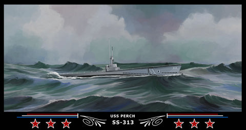 USS PERCH SS-313 Art Print