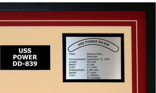 USS POWER DD-839 Detailed Image B