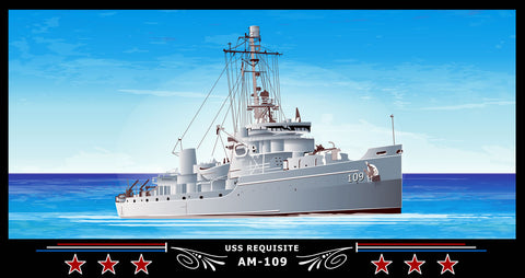 USS Requisite AM-109 Art Print