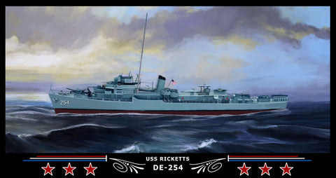 USS Ricketts DE-254 Art Print